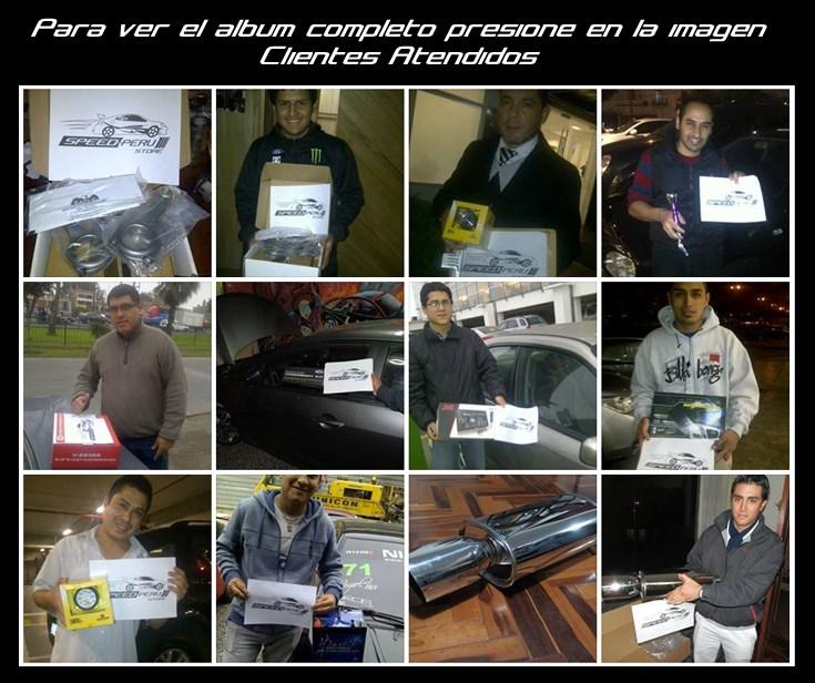 Clientes atendidos SPEED PERU STORE