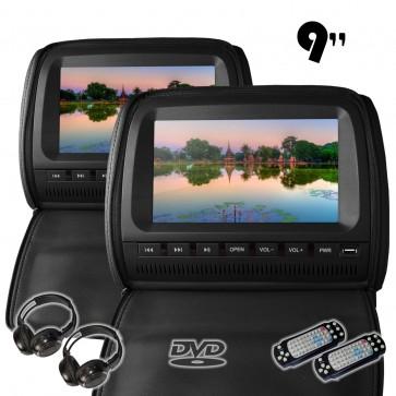 """Combo 2 Cabezales 9"""" con Lector de DVD + Audifonos Inalambricos + Juegos USB SD (IMPORTACION 7D)"""