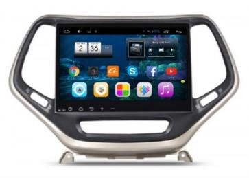 "Autoradio homologado JEEP CHEROKEE 2015-2016  Procesador de 8 nucleos con sistema operativo Android 8.0 - Pantalla 10.1"" + Camara Retro, SIN DVD-TV-GPS-BT-USB-SD-WIFI (Importación 10D)"