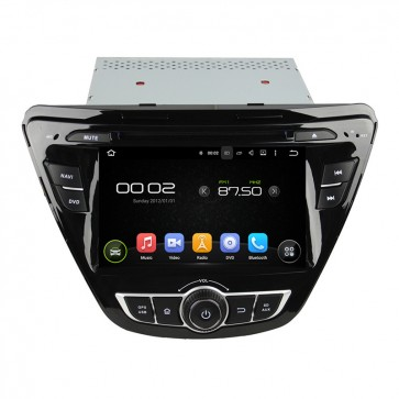 "Autoradio homologado HYUNDAI ELANTRA 2012-2015 Procesador de 8 nucleos con sistema operativo Android 8.0 - Pantalla 7"" + Camara Retro, DVD-TV-GPS-BT-USB-SD-WIFI (Importación 10D)"