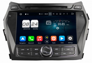 "Autoradio homologado HYUNDAI SANTA FE 2013-2017 Procesador de 8 nucleos con sistema operativo Android 8.0 - Pantalla 8"" + Camara Retro, DVD-TV-GPS-BT-USB-SD-WIFI (Importación 10D)"