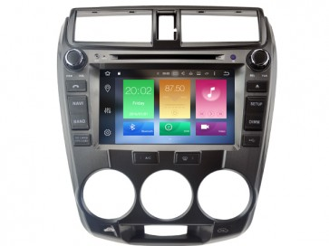 "Autoradio homologado HONDA CITY 2008-12 procesador 8 Nucleos -Android 6.0.1 - Pantalla 8"" + Camara Retro, DVD-TV-GPS-BT-USB-SD-WIFI (Importación 10D)"