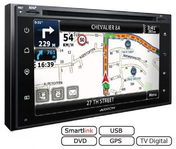 "Autoradio WINCE 2DIN UNIVERSAL marca AKRON con DVD Pantalla 6.2"", GPS, BT, USB, Mirrorlink, TV Incorporada (EN STOCK)"