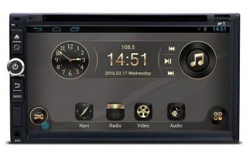 "Autoradio ANDROID compatible con VW BORA 1998-2008 tamaño 2DIN pantalla tactil de 6.95"" DVD, GPS, TV (Importacion 7D) 4 Nucleos"