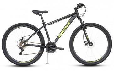 """Bicicleta Montañera BEST modelo OTIS aro 29"""" talla M (Negro con Amarillo) Aluminio"""