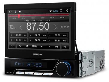 "Autoradio de ultima generacion 1DIN Universal con DVD, pantalla tactil motorizada de 7"" procesador de 8 Nucleos, GPS-BT-USB-SD-WIFI+Camara Retro (Importacion 10D) Android 7.1"
