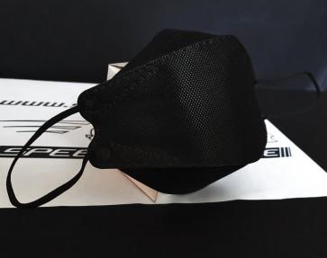 Respirador Mascarilla KN95 color negro modelo Fish Type 3D marca Mayfield (Unidad)