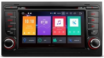 "Autoradio homologado para AUDI A4/S4/RS4 2002-08 pantalla Tactil 7"" DVD,GPS,TV,Wifi,USB, SD+CamRetro (Importacion 7D) 4Nucleos ANDROID 8.0"