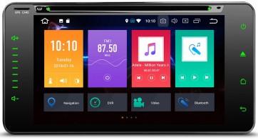 """Autoradio de ultima generación 8 nucleos Android 8.0 pantalla plana (sin botones) para Toyota varios modelos 6.95"""" + Cámara Retro, GPS, Internet, TV,DVD (IMPORTACIÓN 7D)"""