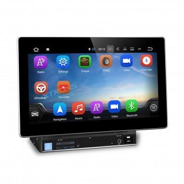 "Autoradio de ultima generacion 2DIN Universal con DVD, pantalla tactil de 10.1"" procesador de 4 Nucleos, GPS-BT-USB-SD-WIFI-TV+Camara Retro (Importacion 7D) Android 7.1"