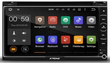 "Autoradio de ultima generacion 2DIN Universal con DVD, pantalla tactil de 6.95"" procesador de 4 Nucleos, GPS-BT-USB-SD-WIFI-TV+Camara Retro (Importacion 7D) Android 5.1"