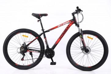 """Bicicleta Montañera KOMBAT BIKE modelo IAITO aro 27.5"""" talla S (Plomo con Rojo)"""