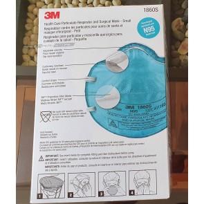 Caja de Mascarillas Respirador 3M N95 modelo 1860S (20 unidades)  Versión Americana