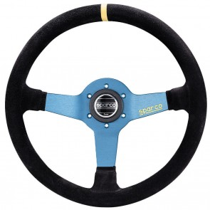 Timon deportivo marca SPARCO modelo L550 Azul Anonizado