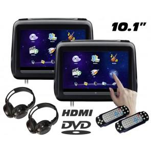 """Combo 2 Cabezales 10.1"""" XTRON con Lector de DVD,Pantalla táctil + Audifonos Inalambricos + Juegos +HDMI USB SD (IMPORTACION 7D)"""