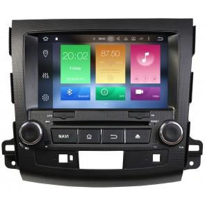 """Autoradio Homologado MITSUBISHI OUTLANDER 2006-2012 Procesador 8 Nucleos (64+4) Android 9 - Pantalla 8"""" Tecnologia Ips con DVD-WIFI-GPS-BT-Procesador Audio DSP +Cam +TV Full HD (Importación 10D)"""