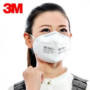 Respirador Mascarilla 3M Original modelo 9501+ (Pack x3 unidades)