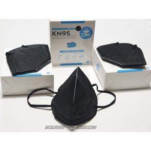 Mascarilla KN95 - 3D - 5 CAPAS - COLOR NEGRO (Pack x3)