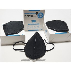 Mascarilla KN95 - 3D - 5 CAPAS - COLOR NEGRO (Pack x10)