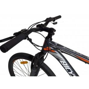 Bicicleta Montañera marca BICYSTAR aro 26'' color Gris con Naranja modelo MTB02 (Aluminio)
