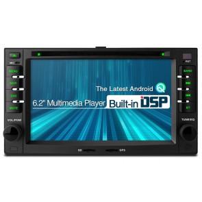 """Autoradio Homologado  KIA SPORTAGE 2005-2010 Procesador 4 Nucleos (16+2) Android 10 - Pantalla 6.2"""" con DVD-WIFI-GPS-BT-Procesador Audio DSP +Cam (Importación 10D)"""