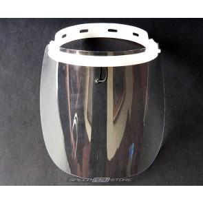 Protector facial abatible de 600 micras - material policarbonato
