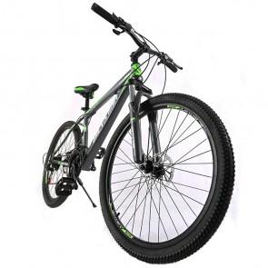 Bicicleta Montañera marca BICYSTAR aro 26 color Gris-Verde modelo MTB01 (Acero)