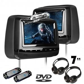 """Combo 2 cabezales con Pantalla Táctil-plana de 7"""" color NEGRO con Lector de DVD + Juegos, USB SD (IMPORTACION 7D)BORDE BLACK"""