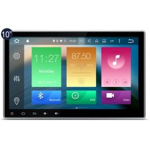 "Autoradio de ultima generacion 2DIN Universal con DVD, pantalla tactil de 10.1"" procesador de 8 Nucleos, GPS-BT-USB-SD-WIFI-TV+Camara Retro (Importacion 7D) Android 6.0"