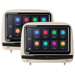 """Combo 2 Cabezales 9"""" XTRON con Lector de DVD + Audifonos Inalambricos + Juegos +HDMI USB SD (IMPORTACION 7D)"""