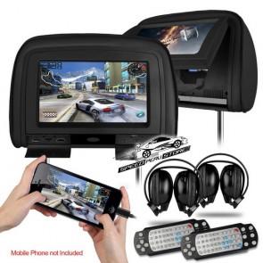 "Combo 2 Cabezales 9"" con Lector de DVD + Audifonos Inalambricos + Juegos +HDMI USB SD (IMPORTACION 7D)"