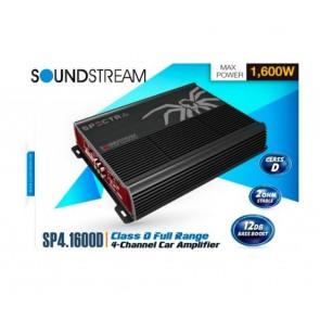 Amplificador de 4 canales marca SOUNDSTREAM modelo SP4.1600D
