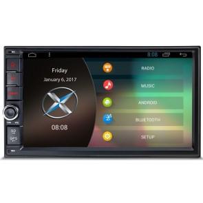 "Autoradio de ultima generacion 2DIN Universal marca XTRONS, pantalla tactil de 7"" procesador 4 Nucleos, Android 7.1 Con GPS-BT-USB-SD-WIFI-Camara Retro (Importacion 7D)"