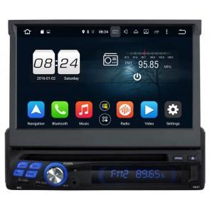 "Autoradio de ultima generacion 1DIN Universal con DVD, pantalla tactil motorizada de 7"" procesador de 8 Nucleos, GPS-BT-USB-SD-WIFI-TV+Camara Retro (Importacion 10D) Android 6.0"