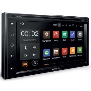"""Autoradio de ultima generación 2DIN UNIVERSAL marca AKRON con DVD Pantalla 6.95"""", sin botones Procesador 4 Nucleos + Camara Retro, GPS, BT, Internet Wifi, TV Digital, Android 5.1 (EN STOCK)"""