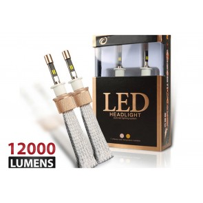 Luces DUAL LED marca OZ TUNING codigos H7 - H11- 880 - 9005 (12000Lm) (Blanco - Amarillo)