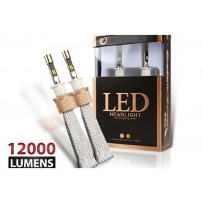 Luces DUAL LED marca OZ TUNING codigos H7 - H11- 880 - 9005 (12000Lm) (Blanco - Amarillo)