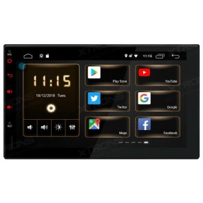 "Autoradio de ultima generacion 2DIN Universal Marca XTRONS, pantalla tactil de 7"" procesador 4 Nucleos, Android 8.1 GPS-BT-USB-SD-WIFI-Camara Retro (EN STOCK)"