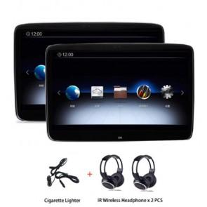 """Par de pantallas de 11.6"""" - Tecnologia Smart 4K -para cabecera, marca ROTHMANN con Sistema Android 9 con Wi-Fi, Bluetooth, HDMI, USB + 2 Auriculares Inalambricos (En Stock)"""