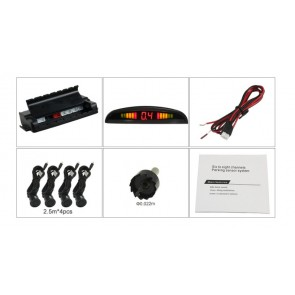 Sensor de retroceso para autos 12v marca OZ TUNING (Kit 4 sensores+Visor)