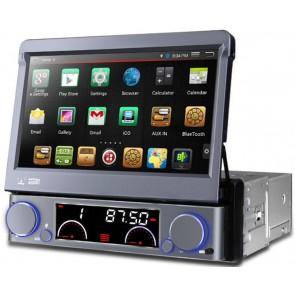 Autoradio de ultima generacion 1DIN Universal con DVD, pantalla tactil motorizada de 7