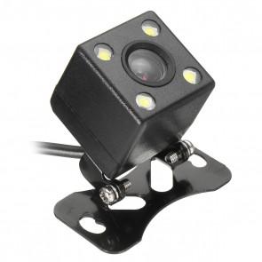 Camara de retroceso Universal color Negro con luces led