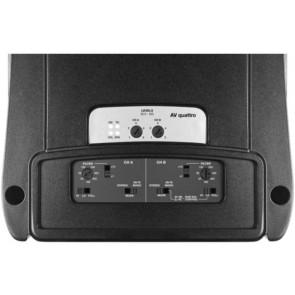 Amplificador de 4 canales marca AUDISON modelo AV QUATTRO