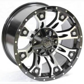 """Juego de aros RPC Wheels  modelo B7274  black MF - réplica - 17""""x9.0"""" - 6x114.3"""