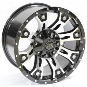 """Juego de aros RPC Wheels  modelo B7274  matt black - réplica - 17""""x9.0"""" - 6x139.7"""