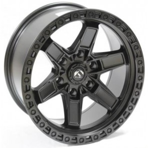 """Juego de aros RPC Wheels  modelo B7293  matt black - réplica - 17""""x9.0"""" - 6x114.3"""