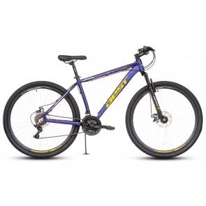 """Bicicleta Montañera BEST modelo OTIS aro 29"""" talla M (Azul con Amarillo) Aluminio"""
