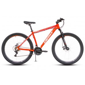 "Bicicleta Montañera BEST modelo OTIS aro 29"" talla M (Rojo con Blanco) Aluminio"