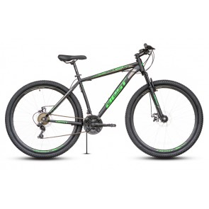 "Bicicleta Montañera BEST modelo STORK aro 29"" talla M (Negro con Verde)"