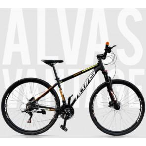 """Bicicleta Montañera ALVAS modelo VANTAGE aro 29"""" talla M (Negro con naranja)"""